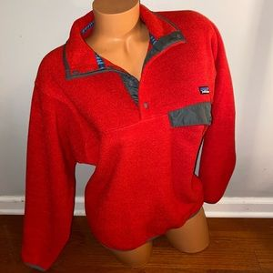 Patagonia men's red synchilla fleece Top XS